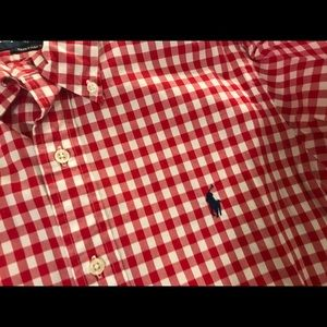 Ralph Lauren men's custom fit shirt S red check